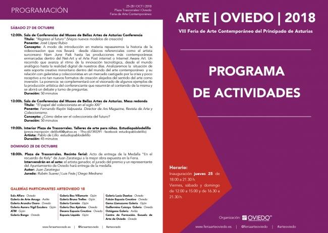 Programa de de ArteOviedo 2018 - 2