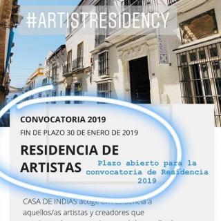 Residencia de Artistas - Convocatoria 2019