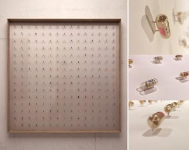 Aurelio San Pedro, Analizó todos sus posibles finales. Técnica mixta en papel. 100 x 100 cm. — Cortesía del Gremi de Galeries d'Art de Catalunya