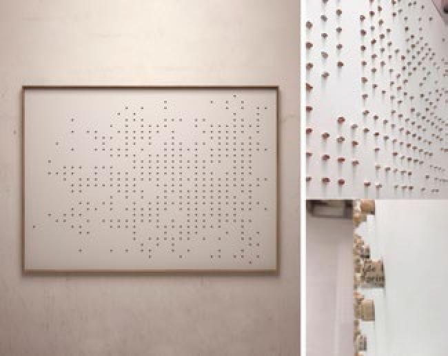 Aurelio San Pedro, Lo que no sentía no contaba. Técnica mixta. 100 x 140 cm. — Cortesía del Gremi de Galeries d'Art de Catalunya