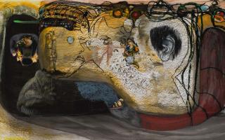 Jorge Queiroz, «Something in common 2», 2015. © Jorge Queiroz, cortesia do artista e Galerie Nathalie Obadia, Paris/Bruxelas