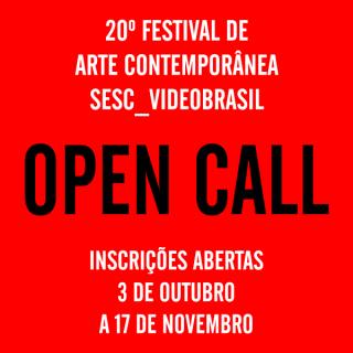 Open Call | 20º Festival de Arte Contemporânea Sesc_Videobrasil