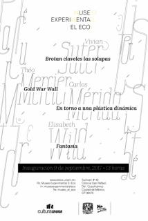 Cartel de las exposiciones