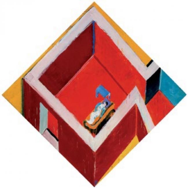 Juan Navarro Baldeweg. Habitación roja con figura, 2005. Colección Fundación Botín, Santander – Cortesía de la Fundación Juan March