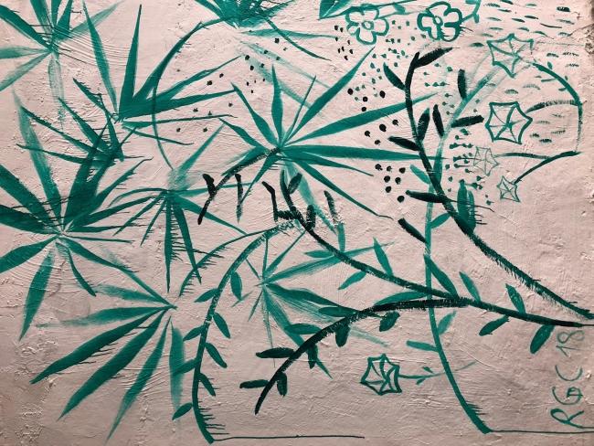 Inauguración 31 marzo. Nave 73. Pintura mural Raúl G. Collado detalle