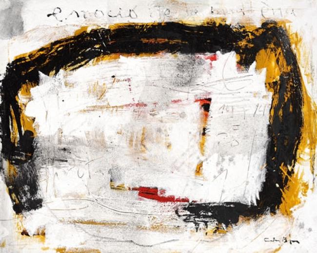 Carles Bros, Emoció. Mixta sobre lienzo. 81x100 cm. – Cortesía de OMNIUM ARS
