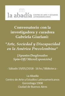 Conversatorio con Gabriela Giurlani en La Abadía