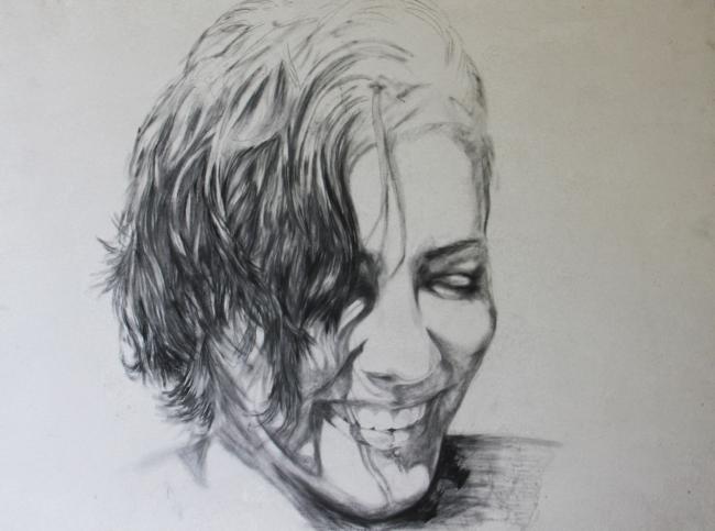 Lydia Gordillo. Ortigueira. Grafito / papel. 60 x 80