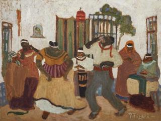 Nostalgias africanas, sem data Óleo sobre cartão, 60×80 cm Acervo Museo de Bellas Artes Juan Manuel Blanes, Montevidéu, Uruguai