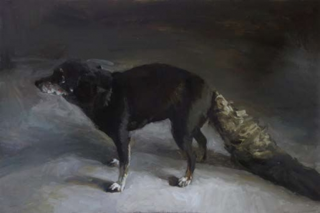 Rafel Bestard, The Wolf. Oil on canvas, 130 x 195 cm. — Cortesía de la Galeria Contrast