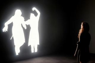 Installation view: Alfredo Jaar, Shadows, SCAD Museum of Art, Savannah, Georgia, 2014.