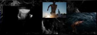Samuel Nacar, Montaje con fotos del proyecto Blue Lesvos. Cientos de migrantes tras cruzar el Egeo saltan al mar en el caluroso verano griego para aprender a nadar — Cortesía de la Fundación Photographic Social Vision