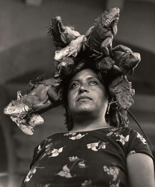Graciela Iturbide, Nuestra Señora de las Iguanas, Juchitan, Oaxaca, Mexico, 1979. Collection SFMOMA