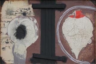 'El trompo' (1968), técnica mixta sobre madera
