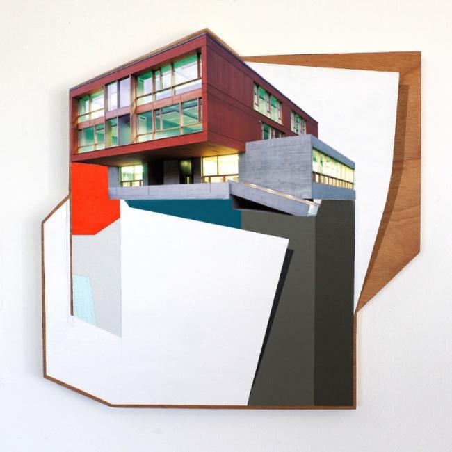 Rubén Torras. Modular VII. Mixta sobre madera. 65 x 65 cm. 2017 – Cortesía de la Galeria My Name's Lolita Art