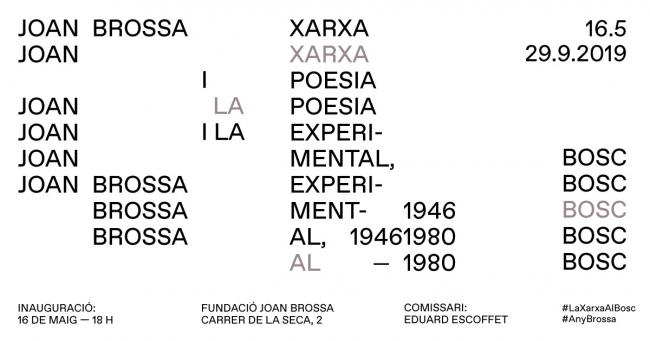 La red en el bosque. Joan Brossa y la poesía experimental, 1946-1980 — Cortesía de la Fundació Joan Brossa