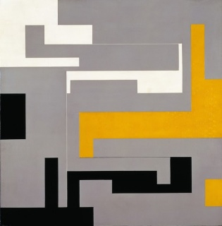 Willys de Castro, Modulated Composition, 1954. Alkyd on board. The Museum of Modern Art, New York. Gift of Patricia Phelps de Cisneros through the Latin American and Caribbean Fund.