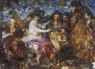 Fragmento de Los borrachos. After Velázquez. Vik Muniz — Cortesía del Museo Universidad de Navarra