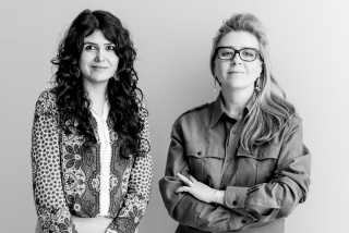From left: GB2020 Artistic Directors Natasha Ginwala and Defne Ayas. Photo: Victoria Tomaschko.