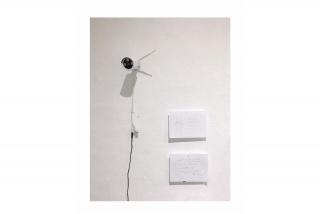 ST - CCTV (Work in progress) | Rocío Soria Díaz | Cámara de seguridad y sistema de circuito cerrado de TV, apuntes | 2020 — Cortesía de No Lugar - Arte Contemporáneo