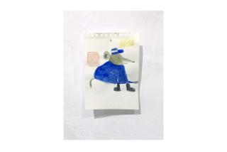 ST (Tenga la bondad) | Leonardo Jiménez | Mixta sobre papel | 10x15cm | 2020 — Cortesía de No Lugar - Arte Contemporáneo