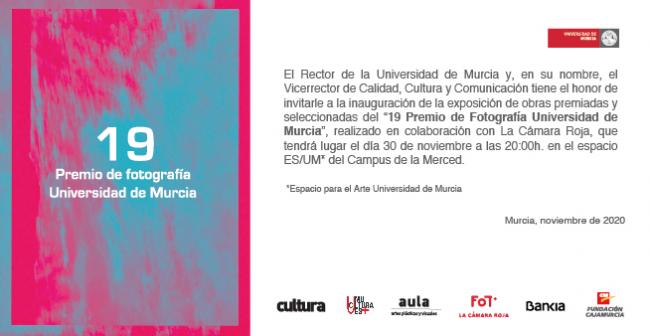 19 Premio de Fotografía Universidad de Murcia - Invitación