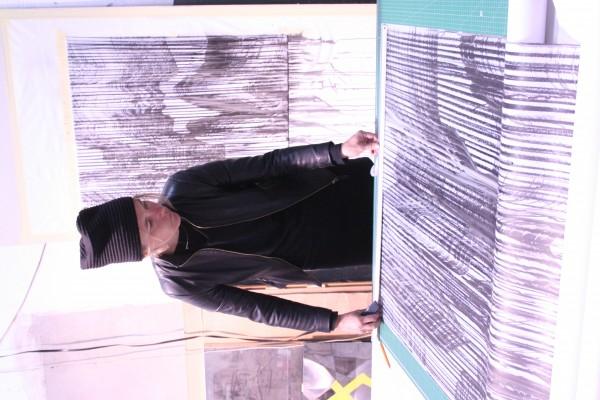 Jaanika Peerna working on her project for Espronceda