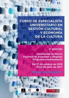 2ª EDICIÓN - CURSO DE ESPECIALISTA UNIVERSITARIO EN GESTIÓN CULTURAL Y ECONOMÍA DE LA CULTURA