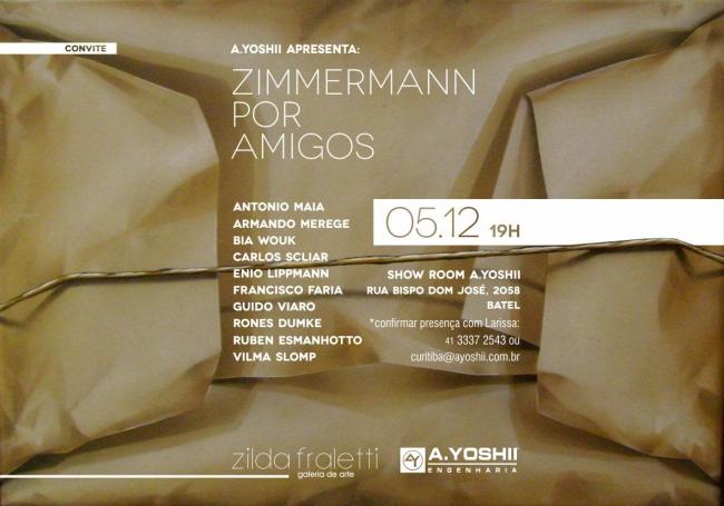 Zimmermann por amigos. Imagen cortesía Galeria Zilda Fraletti