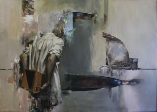 Mózes Incze, Interrogatum, 2018. Oil on canvas, 120 x 170 cm. — Cortesía de Galeria Contrast