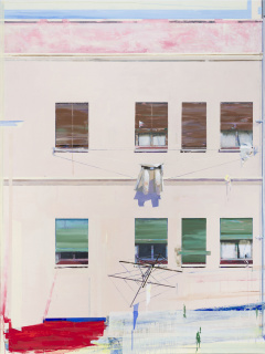 Alfonso Albacete. Patio interior (díptico 1) — Cortesía de la Galería Marlborough