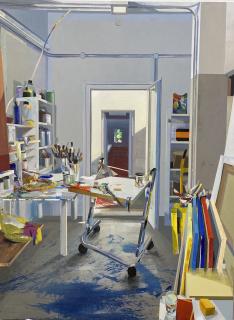 Interior de estudio. Alfonso Albacete — Cortesía de la Galería Marlborough