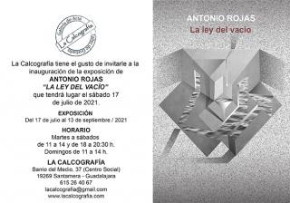 Antonio Rojas. La ley del vacío - Invitación