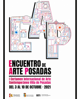 Cartel del I Certamen Internacional de Arte Contemporáneo Villa de Posadas, 2021