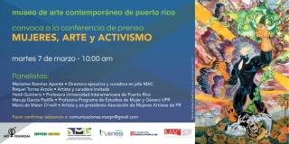 COnferencia de prensa Mueres, Arte y Activismo