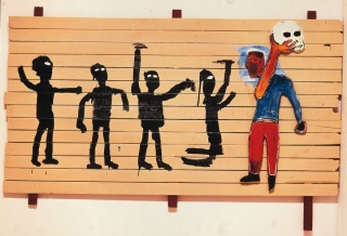 """Procissão"", 1986 (imagem: The Estate of Jean-Michel Basquiat. Licensed by Artestar, New York)"