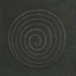 Mira Schendel, Tempera sobre tela, década de 60, 100 x 100 cm.