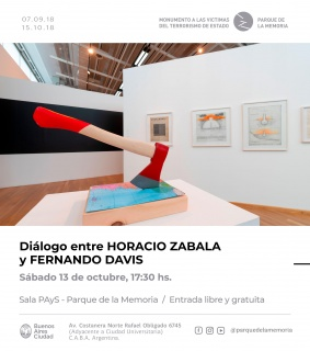 Diálogo entre Horacio Zabala y Fernando Davis. Imagen cortesía Horacio Zabala