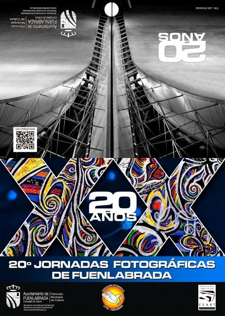 Cartel de las 20ª Jornadas Fotográficas de Fuenlabrada