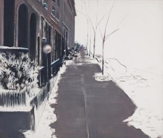 Rómulo Macciò Snow in Uptown, 1990 Óleo sobre tela, 170 x 198 cm Colección Amalia Amoedo Foto: Gustavo Sosa Pinilla