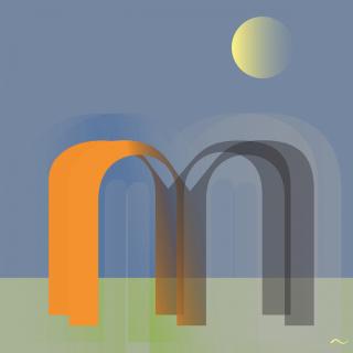 Caligrafía de la letra M mayúscula