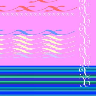 Caligrafía barroca de la letra X