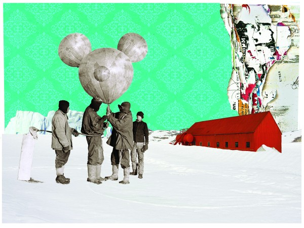 Ruben Torras Llorca, Campo base. Impresión giclée sobre papel, intervención técnica mixta. 54 x 67,5 cm. 2014