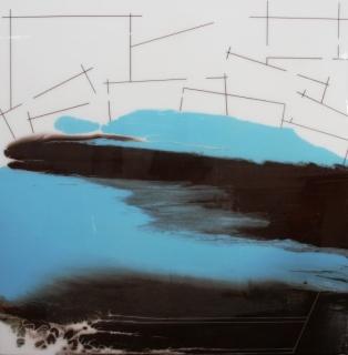 LOGOS 182 Óleo, esmalte y resina sobre tabla 160x160