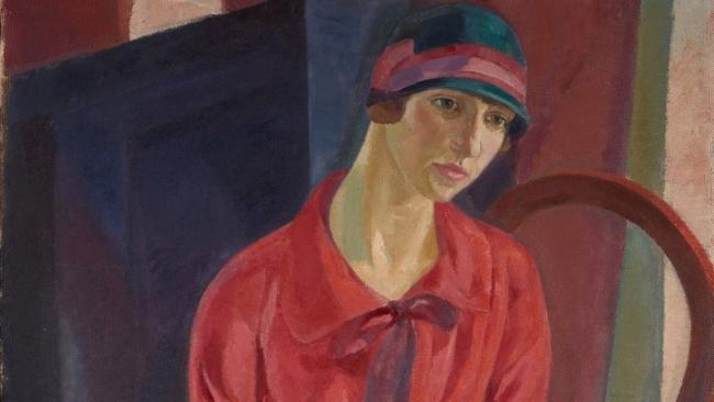 DANIEL VÁZQUEZ DÍAZ Mujer de rojo (1931). Cortesía del Centro Botín