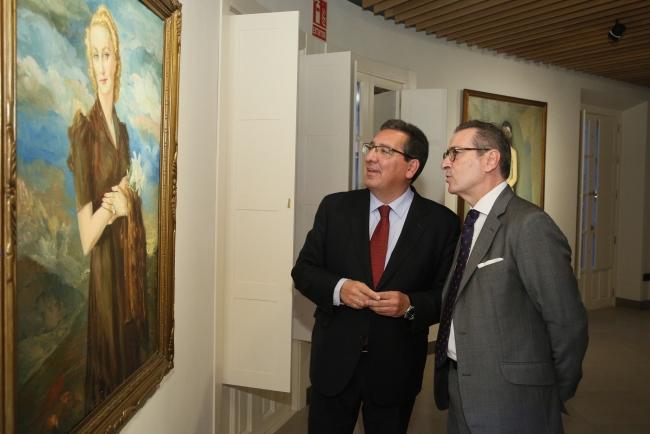 Antonio Pulido, presidente de la Fundación Cajasol, y José Estévez, presidente de la Fundación Enrique Ochoa — Cortesía de la Fundación Cajasol