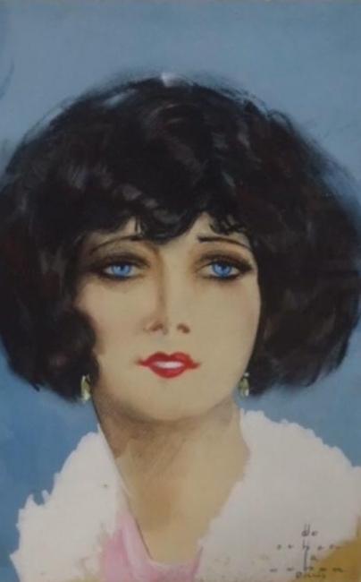 Enrique Ochoa, Retrato de mujer. De Ochoa a Ochoa. Paris — Cortesía de la Fundación Cajasol