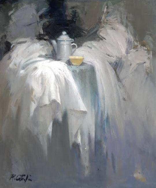 "Rafael Català, ""BODEGON B9""  Oleo sobre lienzo. 55 X 46 cm. — Cortesía de Omnium Ars"