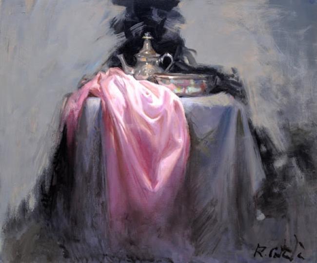 "Rafael Català, ""BODEGON A8"" Óleo sobre lienzo. 54 x 65 cm. — Cortesía de Omnium Ars"
