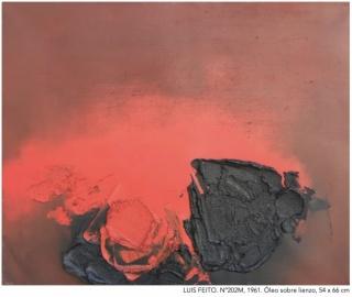 Obra de Luis Feito, artista invitado de la feria